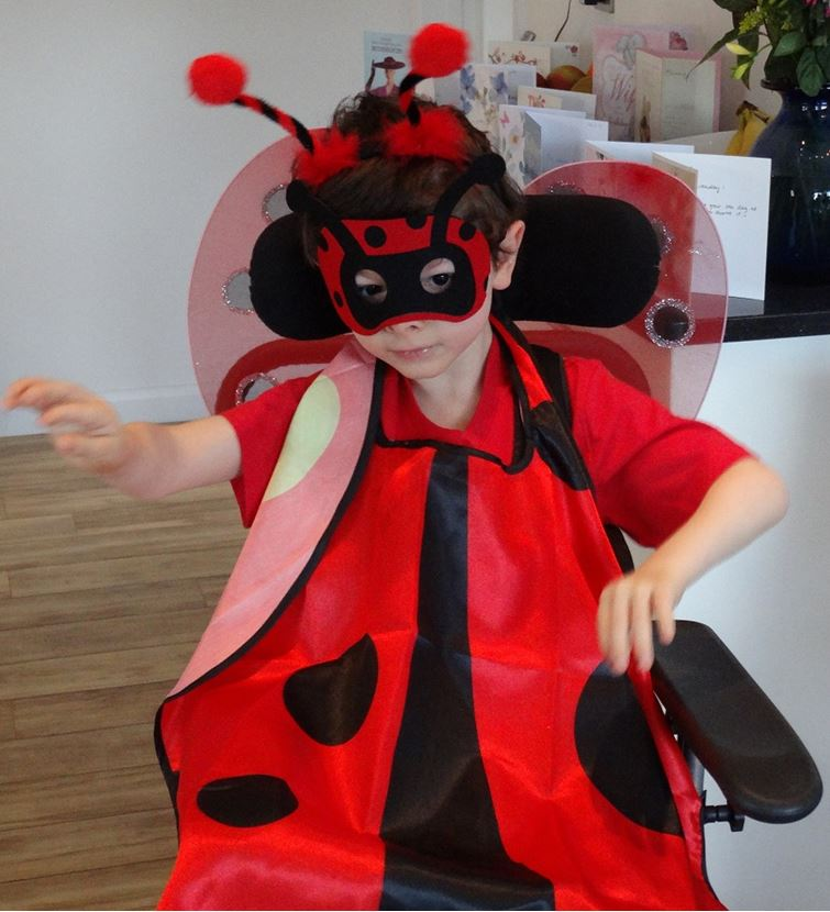 Thomas in his ladybird costume